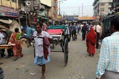 Rickshaw driver Royalty Free Stock Photography