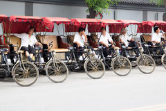 Rickshaw drivers Royalty Free Stock Images