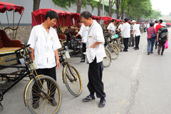 Rickshaw drivers Royalty Free Stock Photo