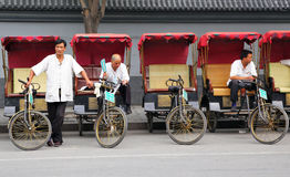 Rickshaw drivers royalty free stock photos