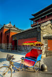 Rickshaw at Drum Tower. In Beijing Royalty Free Stock Photography