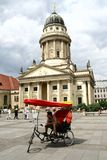 Rickshaw in Gendarmenmarkt in Berlin Stock Images