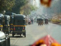 Rickshaw i Indien stock video