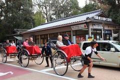 Rickshaw i Nara, Japan Arkivfoto