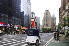 Rickshaw i New York City Royaltyfri Fotografi