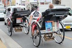 Rickshaw i tokyo Arkivbilder