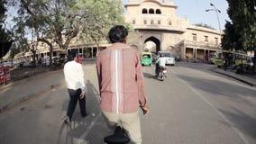 Rickshaw in India stock video footage