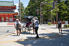 Rickshaw, Japanese transport Royalty Free Stock Photo