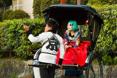 Rickshaw in Kyoto Royalty Free Stock Photo