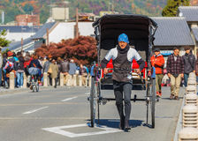 Rickshaw in Kyoto Stock Images
