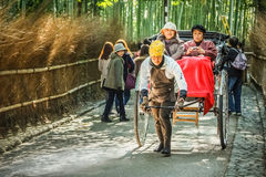 Rickshaw in Kyoto Royalty Free Stock Image