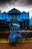 Rickshaw of Malang, Indonesia. People of Malang, Indonesia Stock Image