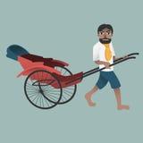 Rickshaw-Man Stock Photo