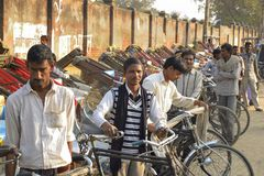 Rickshaw men Royalty Free Stock Images