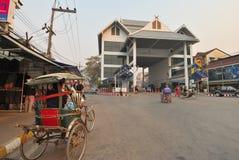Rickshaw Moving To Customs Stock Photography