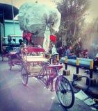 Rickshaw. New generation of rickshaws royalty free stock photography