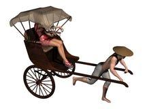 Rickshaw with passenger Stock Photo