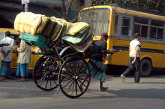 Rickshaw Puller Royalty Free Stock Photography