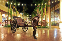 Rickshaw statue decorated at Asiatique Riverfront Royalty Free Stock Photography