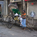 Rickshaw on the street in Calcutta Royalty Free Stock Images