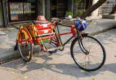 A rickshaw on street in Yangon, Myanmar Stock Photo