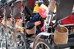 Rickshaw in tokyo Royalty Free Stock Photos