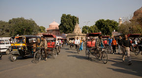 Rickshaw traffic Royalty Free Stock Photo