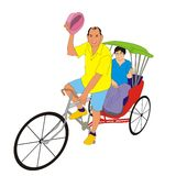 Rickshaw travel Stock Image