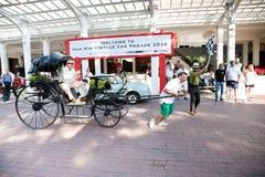 Rickshaw on Vintage Car Parade Stock Photos