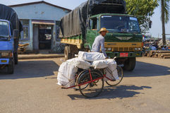 Rickshaw in Yangun Stock Images