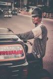 Rickshawchaufför Royaltyfri Fotografi