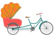 Rickshaw. vektor illustrationer