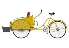 Rickshaw vektor illustrationer