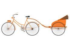 Rickshaw stock illustrationer