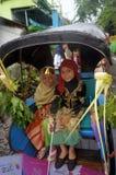 Rickshawen ståtar Arkivfoton