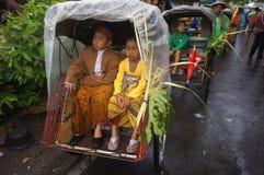 Rickshawen ståtar Royaltyfri Foto