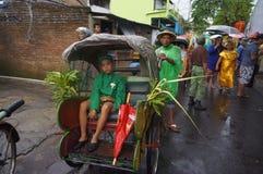 Rickshawen ståtar Royaltyfri Bild