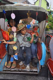 Rickshawen ståtar Royaltyfria Foton