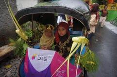 Rickshawen ståtar Royaltyfria Bilder