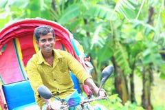 Rickshawpelare arkivfoto