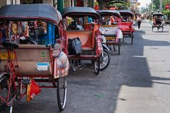 Rickshaws Stock Photo