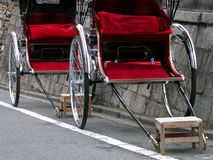 Rickshaws. Interesting details Royalty Free Stock Photography