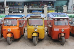 Rickshaws in Burma Stock Image