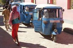Rickshaws, Ethiopua Royalty Free Stock Photos