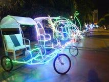 Rickshaws för en afton Royaltyfria Foton