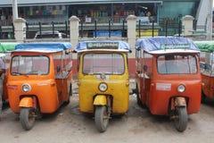 Rickshaws i Burma Fotografering för Bildbyråer