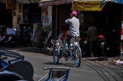 Rickshaws in Saigon, Vietnam Royalty Free Stock Photos
