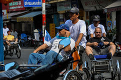 Rickshaws in Saigon, Vietnam Stock Photo
