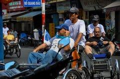Rickshaws in Saigon, Vietnam Stock Photo