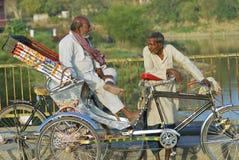 Rickshaws wait for passengers, Varanasi, India. VARANASI, INDIA - March 25, 2007: Unidentified rickshaws wait for passengers on March 25, 2007 in Varanasi Royalty Free Stock Photo